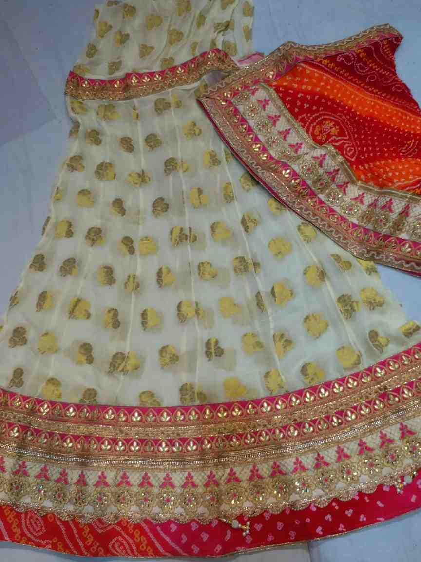 all new wedding collection heavy gota patti lace banaeshi lhengha with pure silk heavy gota patti lace dupptta