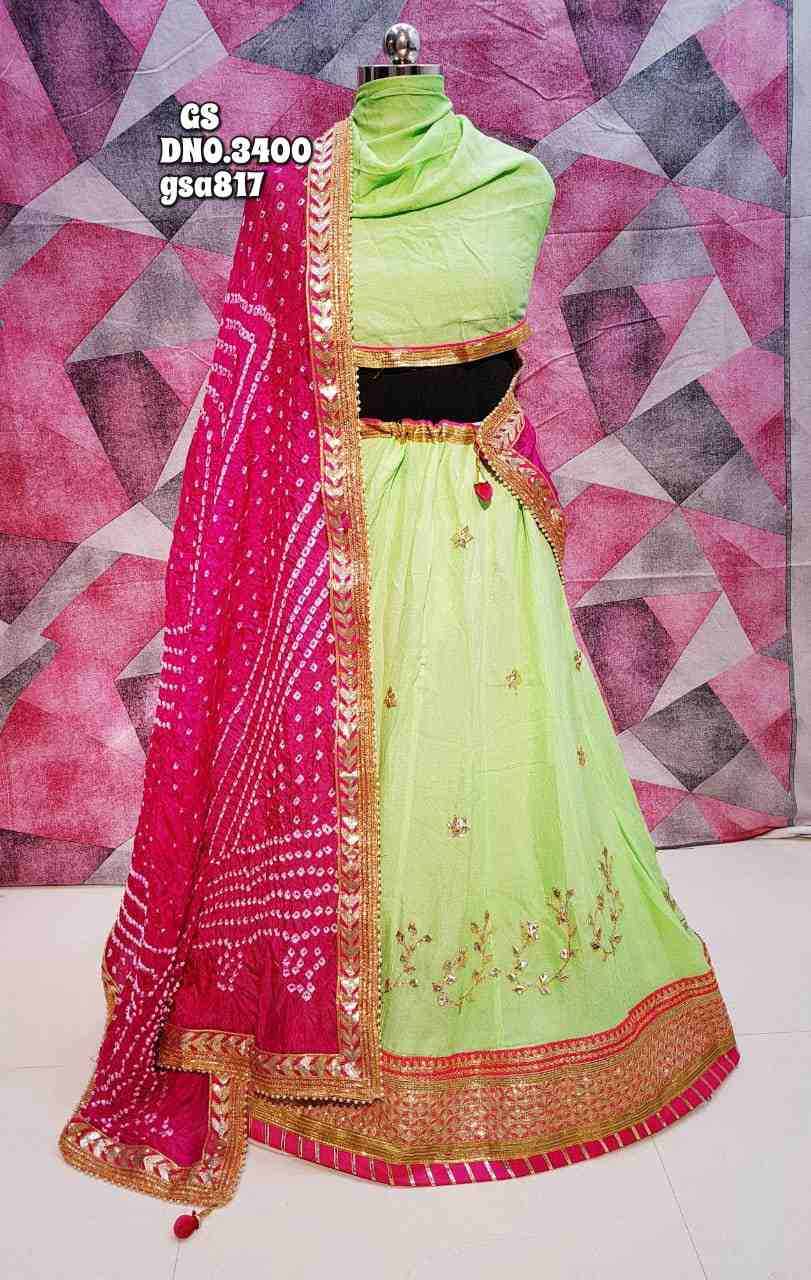 women choice crepe heavy gota patti work lhengha choli set