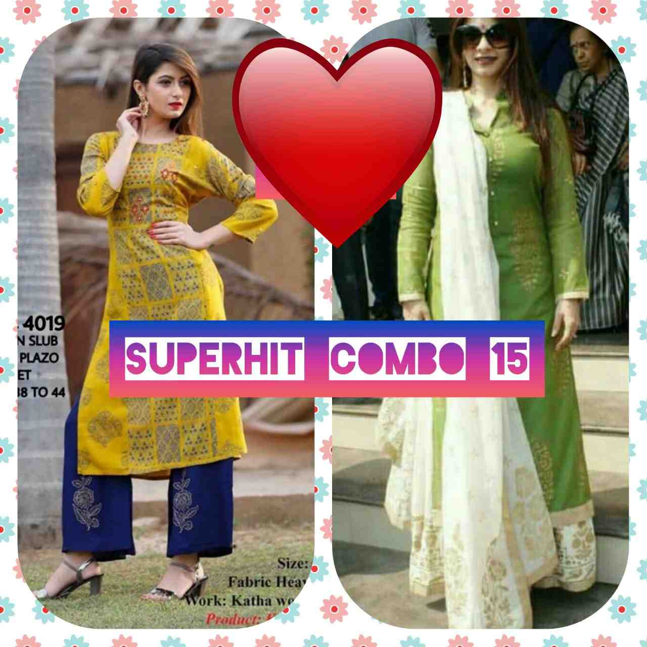 SPECIAL OFFER combo offer set of two kurti + bottom+ dupptta