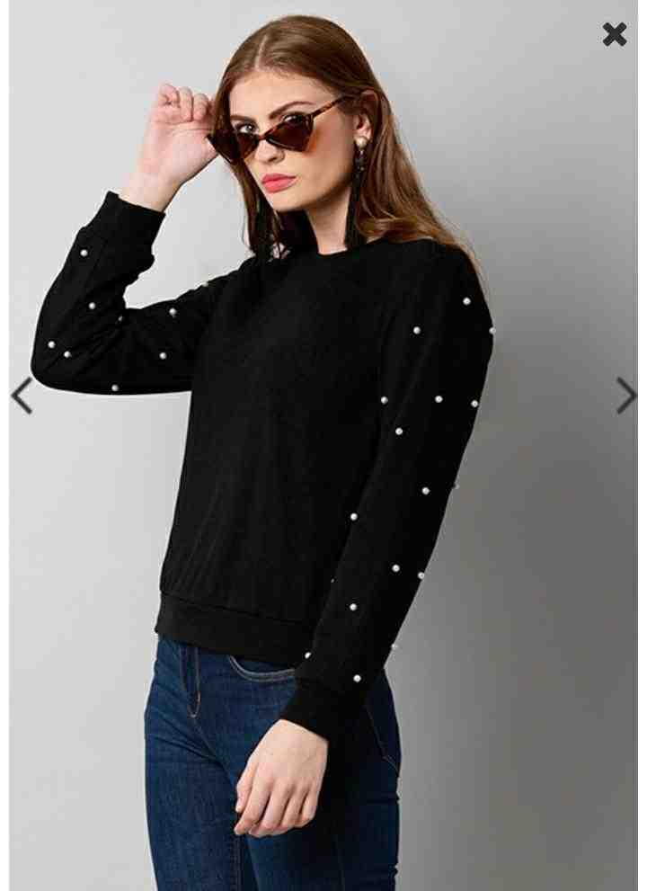 Get set ready for the party withBeautiful black studded sweatshirt