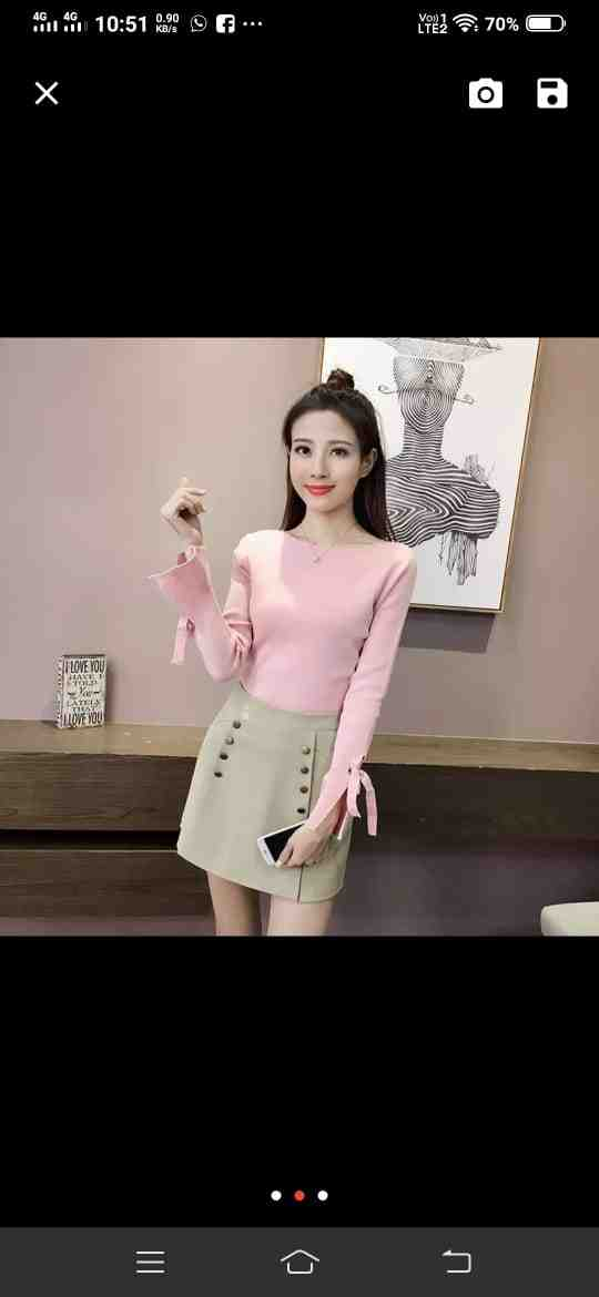 All new party wear collection beautiful baby pink long sleeves tops